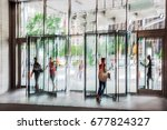 abstract image of people in the ... | Shutterstock . vector #677824327