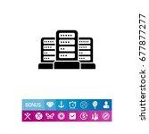 group of servers | Shutterstock .eps vector #677877277