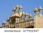 detail of architecture in the... | Shutterstock . vector #677922547