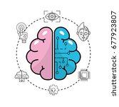 future technology brain... | Shutterstock .eps vector #677923807