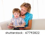 grandmother and grandson... | Shutterstock . vector #67792822