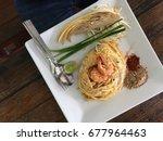pad thai wonton crisp and... | Shutterstock . vector #677964463