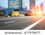 asphalt road in lujiazui... | Shutterstock . vector #677978977