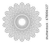 mandala. ethnic indian magic... | Shutterstock .eps vector #678006127
