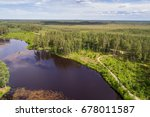 aerial view of river among the... | Shutterstock . vector #678011587