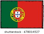 portugal flag grunge background.... | Shutterstock . vector #678014527