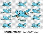 airplane plane airliner...   Shutterstock .eps vector #678024967