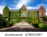 the building of the university... | Shutterstock . vector #678051097