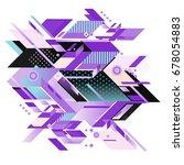 trendy geometrical vector... | Shutterstock .eps vector #678054883