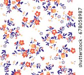 floral pattern | Shutterstock .eps vector #678058987