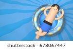 cartoon man relax in swimming...   Shutterstock . vector #678067447