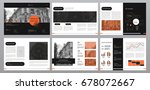 design annual report  cover ... | Shutterstock .eps vector #678072667
