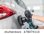 car detailing   man holds a... | Shutterstock . vector #678074113