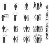 people icons work group team... | Shutterstock .eps vector #678082183