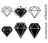 set of diamond design elements. ... | Shutterstock .eps vector #678082633
