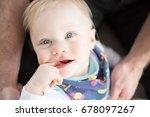 close up of beautiful and happy ... | Shutterstock . vector #678097267