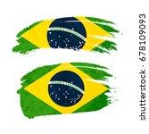 grunge brush stroke with brazil ... | Shutterstock .eps vector #678109093