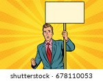 protester businessman with a