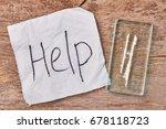 text help  narcotics  wooden... | Shutterstock . vector #678118723