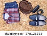 men's casual outfits with... | Shutterstock . vector #678128983