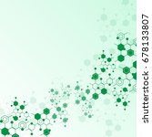 abstract molecules medical... | Shutterstock .eps vector #678133807