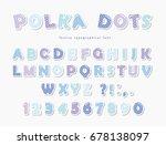 cute polka dots font in pastel... | Shutterstock .eps vector #678138097