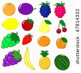 fruits set vector | Shutterstock .eps vector #67814332