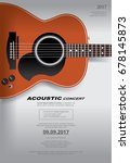 acoustic guitar concert poster... | Shutterstock .eps vector #678145873