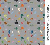 colored random seamless pattern ... | Shutterstock .eps vector #678149857