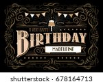birthday greeting card template ... | Shutterstock .eps vector #678164713