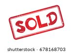 sold. rubber stamp with red...   Shutterstock .eps vector #678168703
