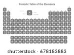 periodic table of the elements... | Shutterstock .eps vector #678183883