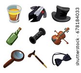 set of objects  accessories and ... | Shutterstock .eps vector #678184033
