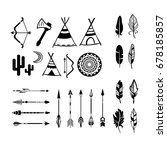 hand drawn indian icons | Shutterstock .eps vector #678185857