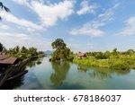 concrete french bridge... | Shutterstock . vector #678186037