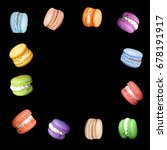 multicolored macaroons isolated ... | Shutterstock . vector #678191917