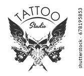 tattoo studio emblem | Shutterstock .eps vector #678195853
