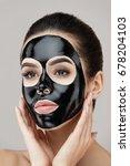 woman beauty face skin mask.... | Shutterstock . vector #678204103