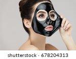 woman face mask. portrait of... | Shutterstock . vector #678204313