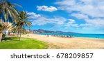 panoramic view of malagueta... | Shutterstock . vector #678209857