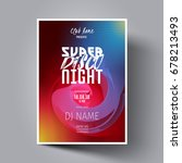 disco night flyer  leaflet ... | Shutterstock .eps vector #678213493