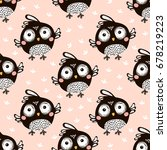 seamless pattern with cartoon... | Shutterstock .eps vector #678219223