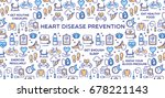 heart disease prevention  ... | Shutterstock .eps vector #678221143