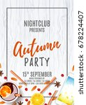 elegant flyer for autumn party. ... | Shutterstock .eps vector #678224407