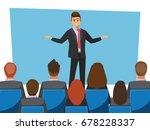 business seminar  vector... | Shutterstock .eps vector #678228337