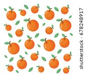 pattern with orange fruits and... | Shutterstock .eps vector #678248917