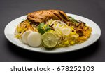 hyderabadi chicken or dum... | Shutterstock . vector #678252103