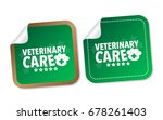 veterinary care stickers | Shutterstock .eps vector #678261403