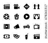 cinema and movies icon | Shutterstock .eps vector #678261517