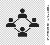 network vector icon. people... | Shutterstock .eps vector #678263863